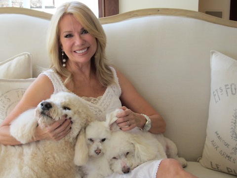 Kathie Lee with pets