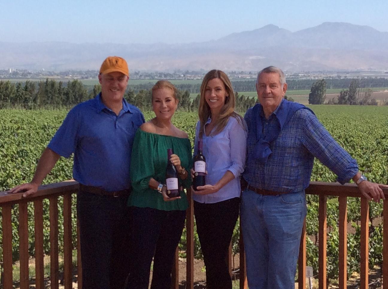 Kathie Lee Gifft Wine at Scheid Vineyard